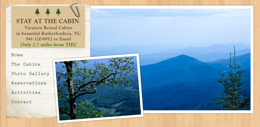 Stay at the Cabin | Vacation Rental Cabins in Rutherfordton, NC